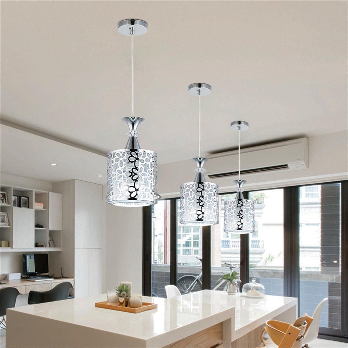 Ceiling Light Modern Crystal Iron Pendant Lamp Dining Room