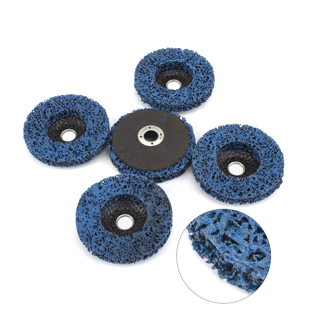 4 Inches Poly Strip Disc Grinding Abrasive Wheel Paint Rust Removal Clean Set