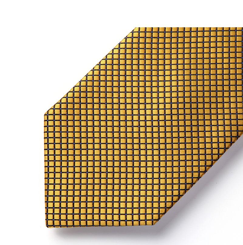 """Men Gold  Check /& Plaid 3.4/""""Silk Woven Men Tie Necktie Handkerchief Set#TC614D8S"""