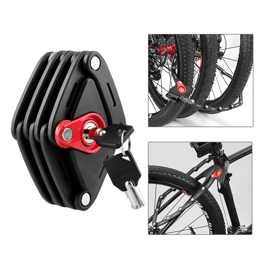 Anti-theft Anti-Theft Security Bike Bicycle Lock with Key Long