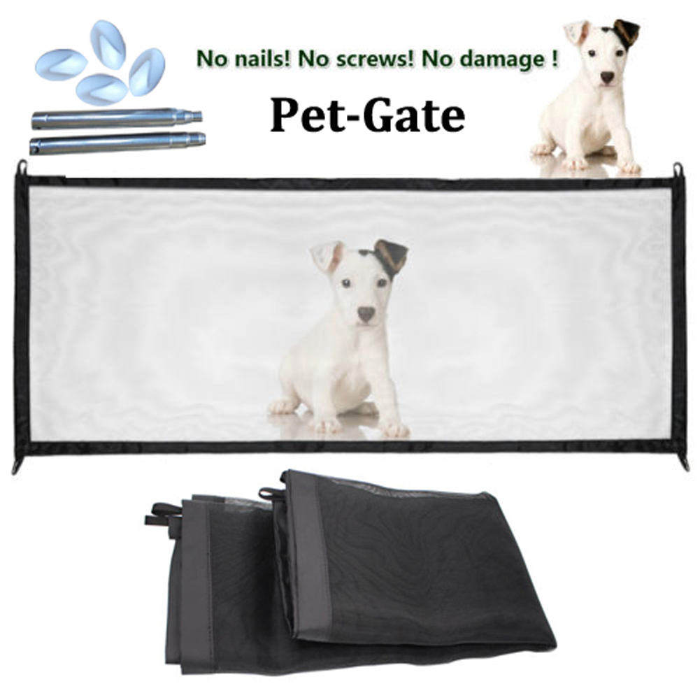 Mesh Magic Pets Dogs Gate Safe Guard And Install Anywhere Safety Enclosure