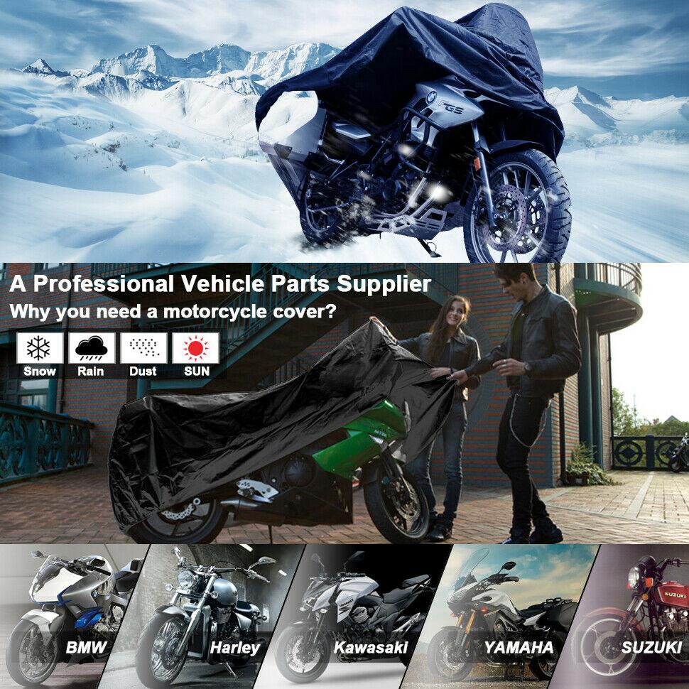 4XL Motorcycle Cover Waterproof Heavy Duty For Winter Outside Storage Snow Rain