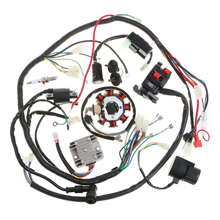 Stator Cdi Coil Electric Wiring Harness Wire Kit For
