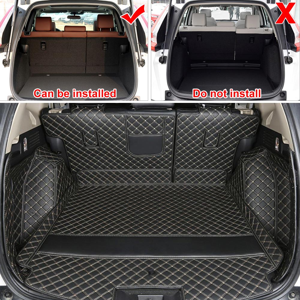 For Mitsubishi Pajero 2007-2016 Car Trunk Mats Full Cargo Boot Liner Cover Mat