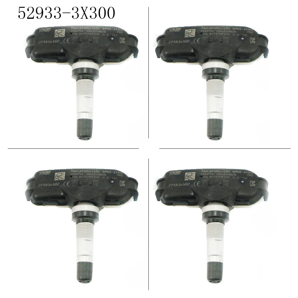 Set of 4 TPMS Tire Pressure Sensors 52933-3X200 For Hyundai Elantra Kia Rio