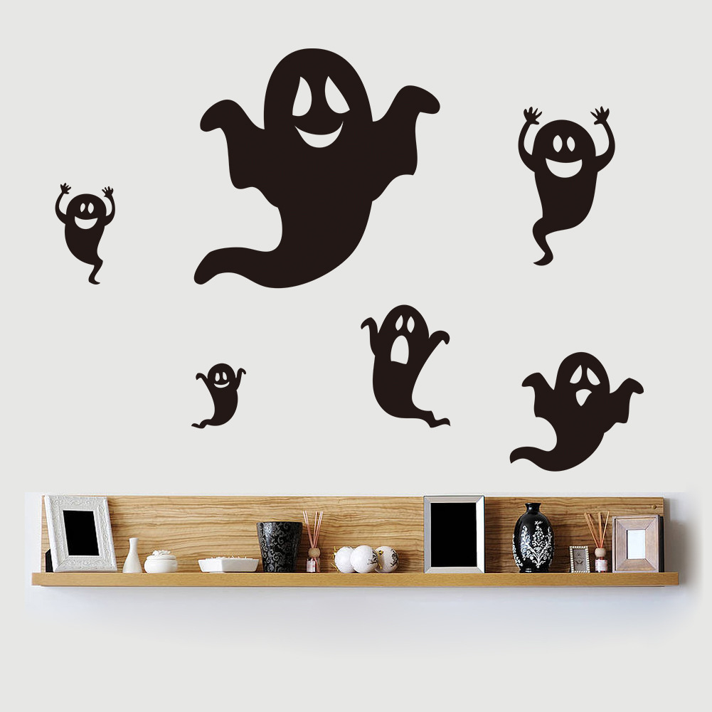Halloween Black Ghost Vinyl Wall Sticker Home Decor Decal Mural Diy