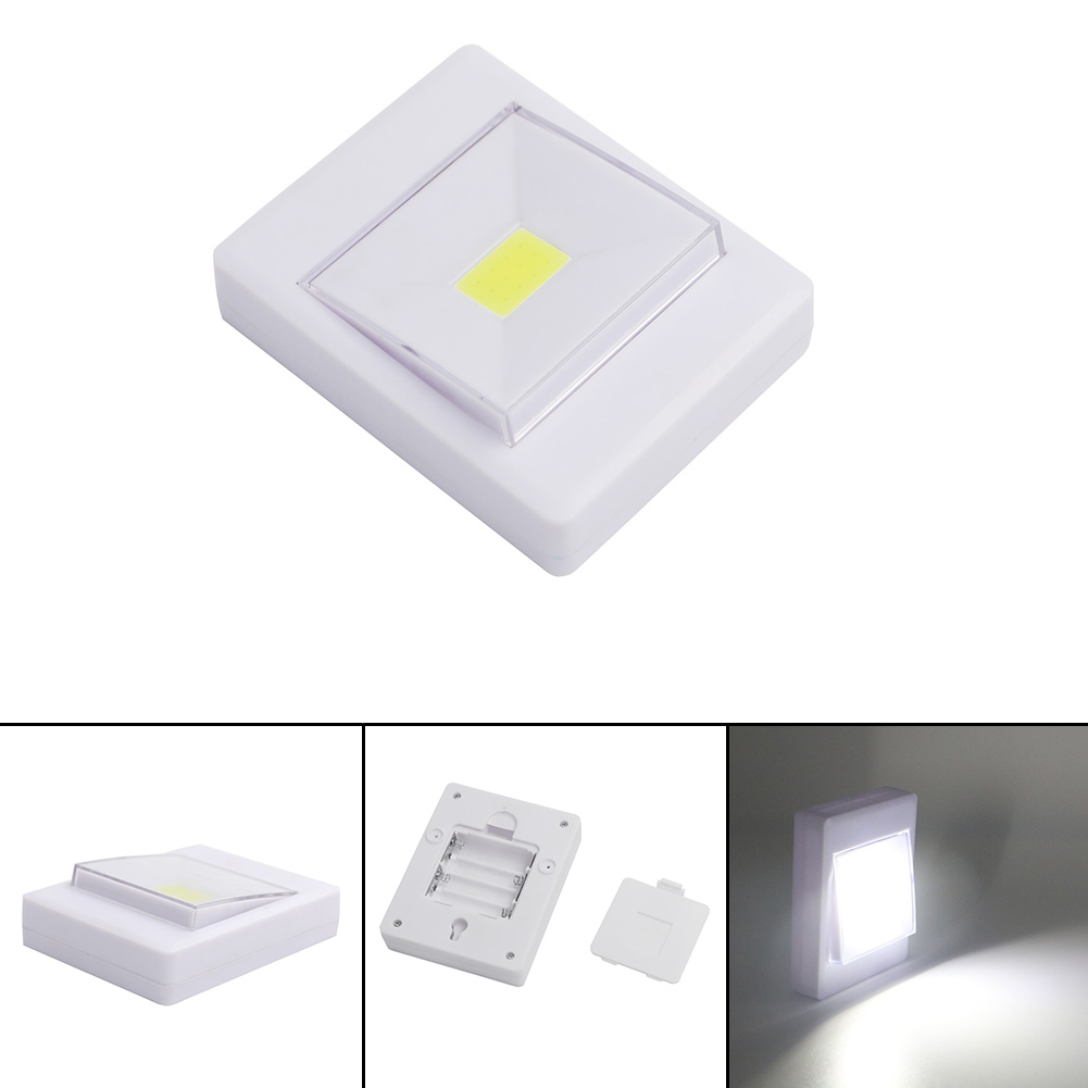CORDLESS COB LED BATTERY OPERATED SWITCH LIGHT MAGNETIC WALL NIGHT LIGHT 4*AAA eBay