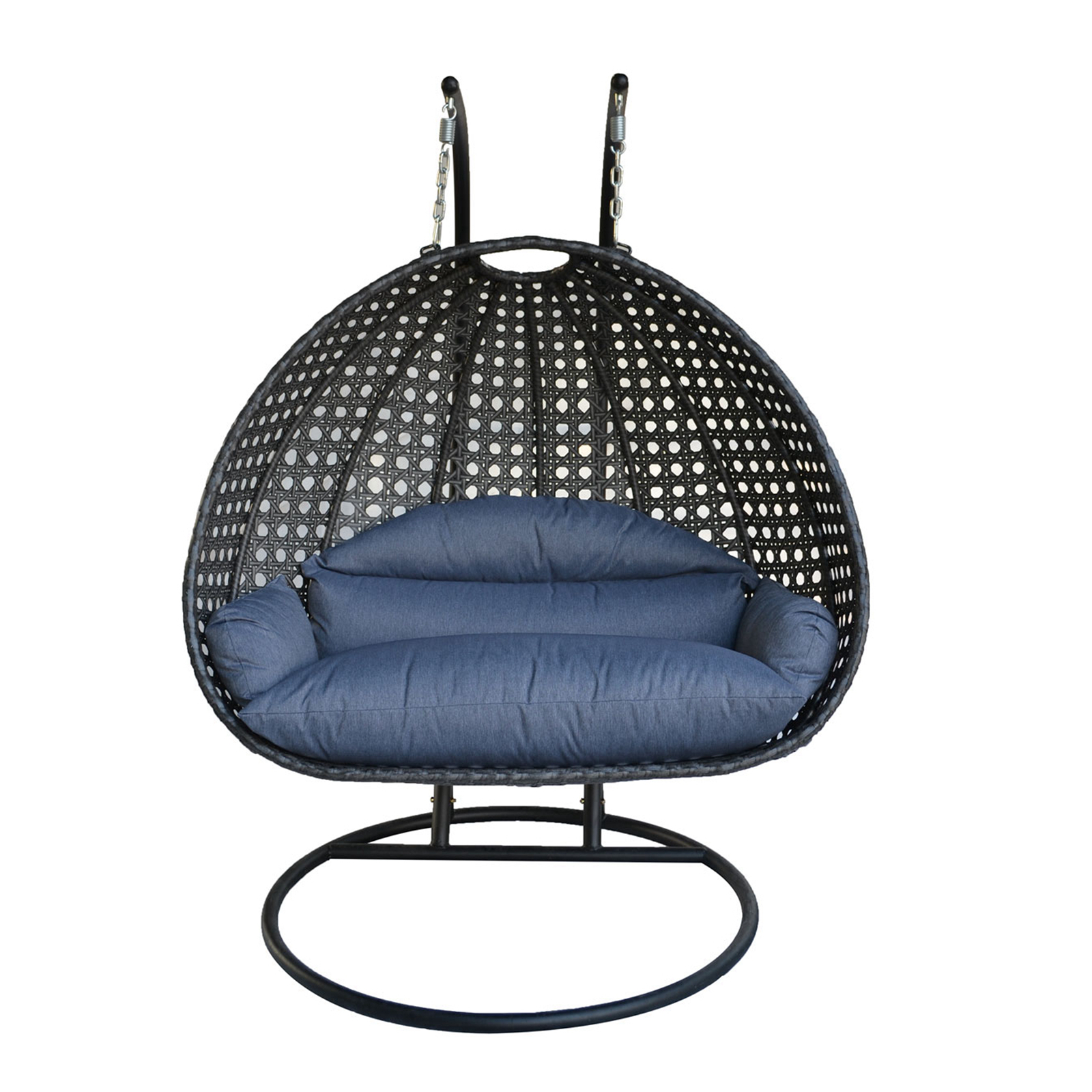 Heavy Duty 2 Person Wicker Chair Swing Hammock Rattan Outdoor Indoor Furnitur