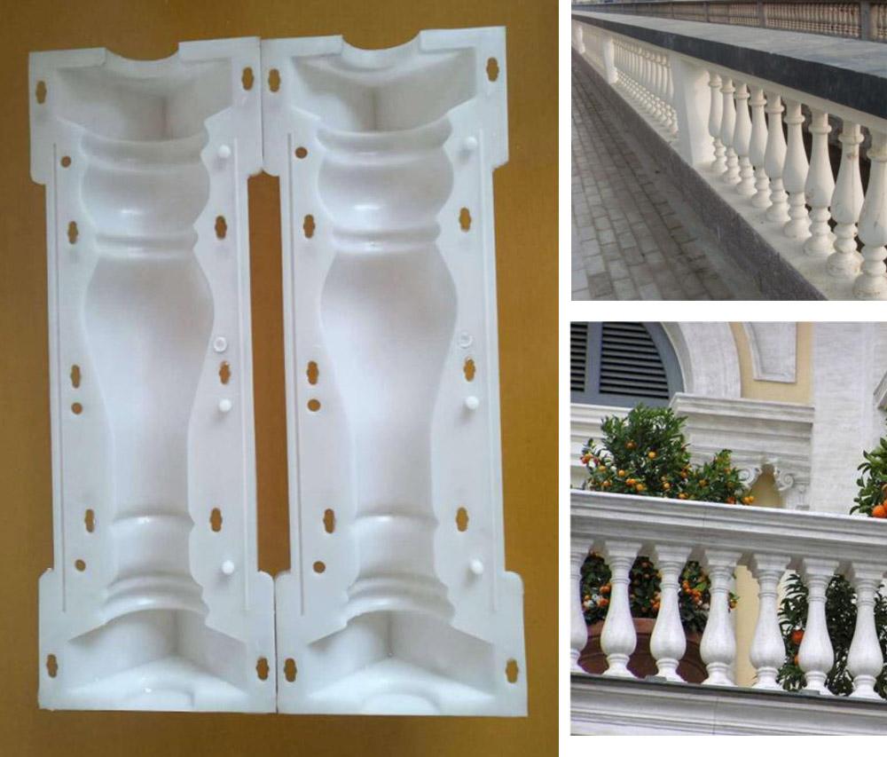 Details about 2 Piece/Set Moulds Balustrades Mold for Concrete Plaster  Cement Plastic Casting