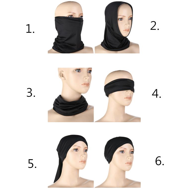 RockBros Outdoor Sports Ice Silk Scarf Neck Warmer Headband Face Mask US Stock
