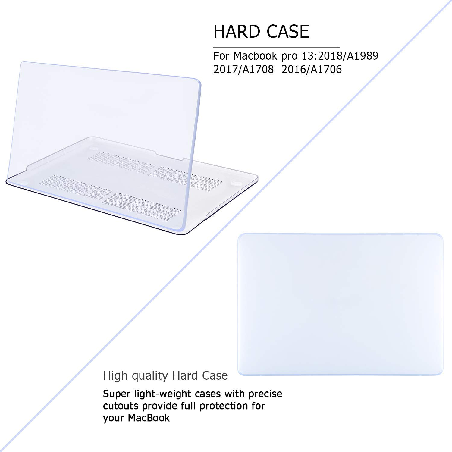 MacBook Pro 13 case 2018|Compatible with Models A1989//A1708Release