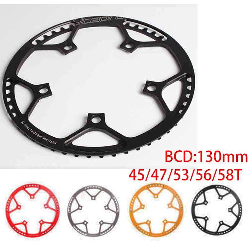 BCD 130 MTB Folding Bike Round Chainring Sprocket 45//47//53//56//58T Pro Chain Ring