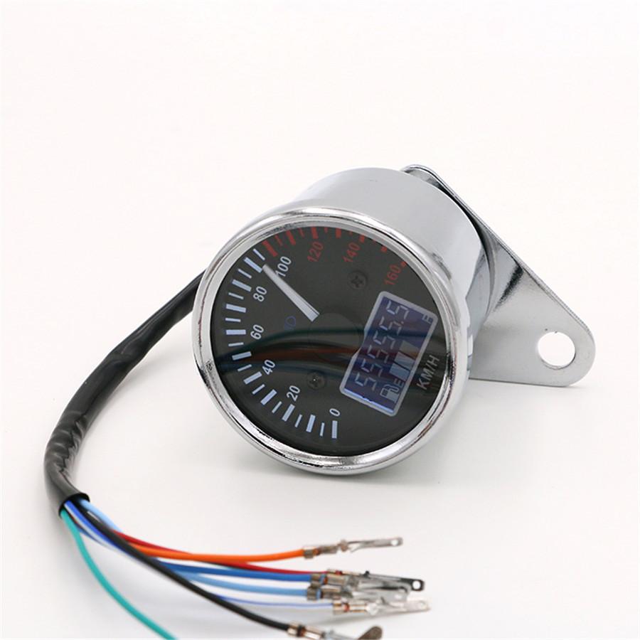 1x Motorcycle Digital Odometer Speedometer Gauge Turn