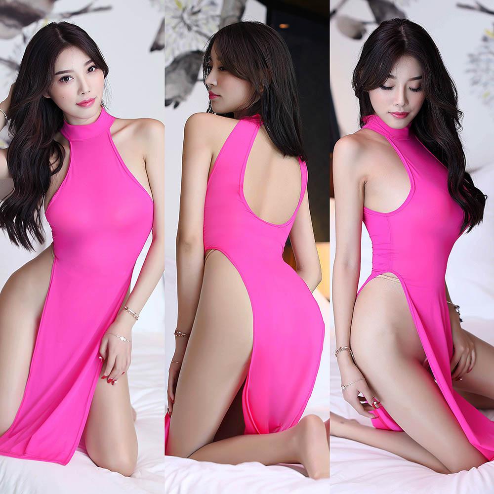 Women/'s Bandage Bodycon Sleeveless Cheongsam Mini Dress Sheer Clubwear Cocktail
