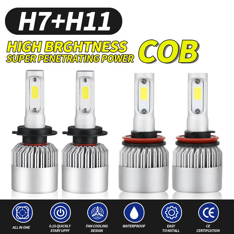 H8 H9 H11 3000W 450000LM LED Headlight Bulbs Conversion Kit 6000K Hight Low Beam