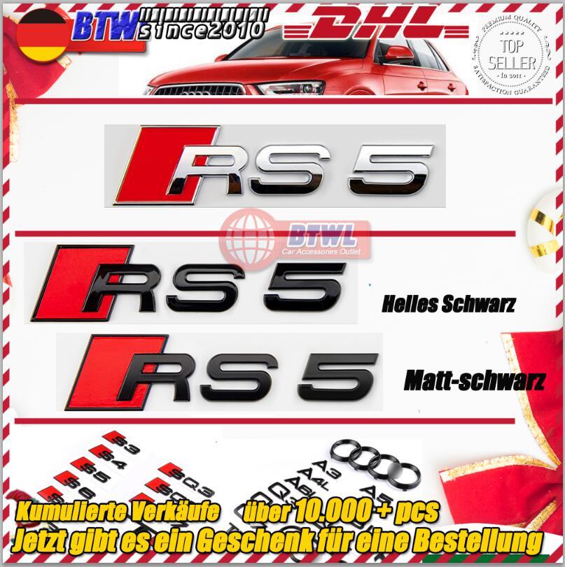 Audi schwarzes Rs8 Logo Auto Heck Aufkleber hinten Ziel Rs3 Rs5 Rs4 Rs6 Rs7