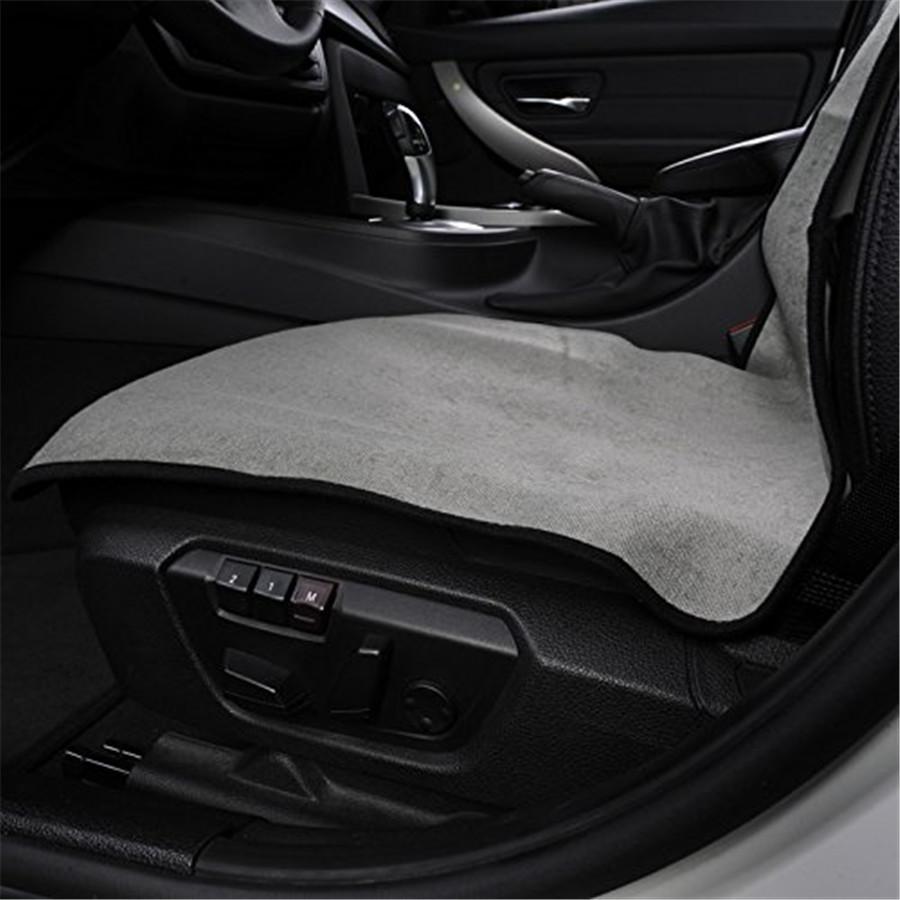 Auto Sitzbezug Fitness Yoga Sitzmatte Haustier Pad Grau Dual-Layer Anti-Rutsch