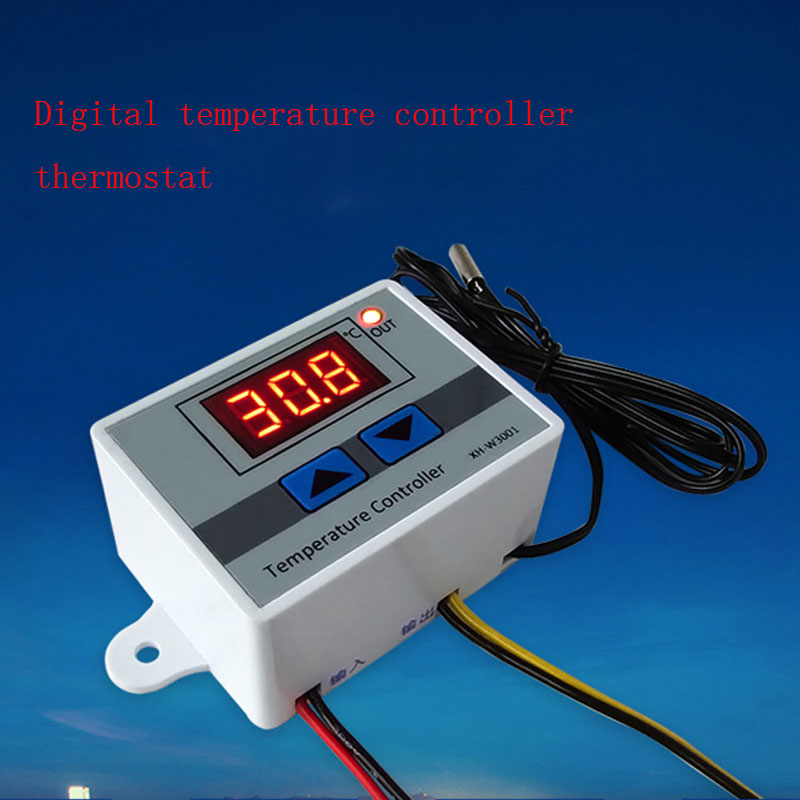 2x Digital Mikrocomputer Temperaturregler Thermostat Controller mit Sonde,