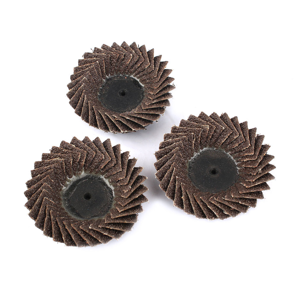 5pc 120 Grit Flap Wheels Abrasive Sanding Cleaning Burr Woodworking Grinder Tool