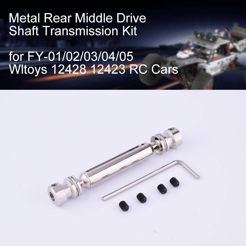 T-power Metal Rear Middle Drive Shaft Universal Transmission Accessories Kit for FY-01//02//03//04//05 Wltoys 12428 12423 RC Car
