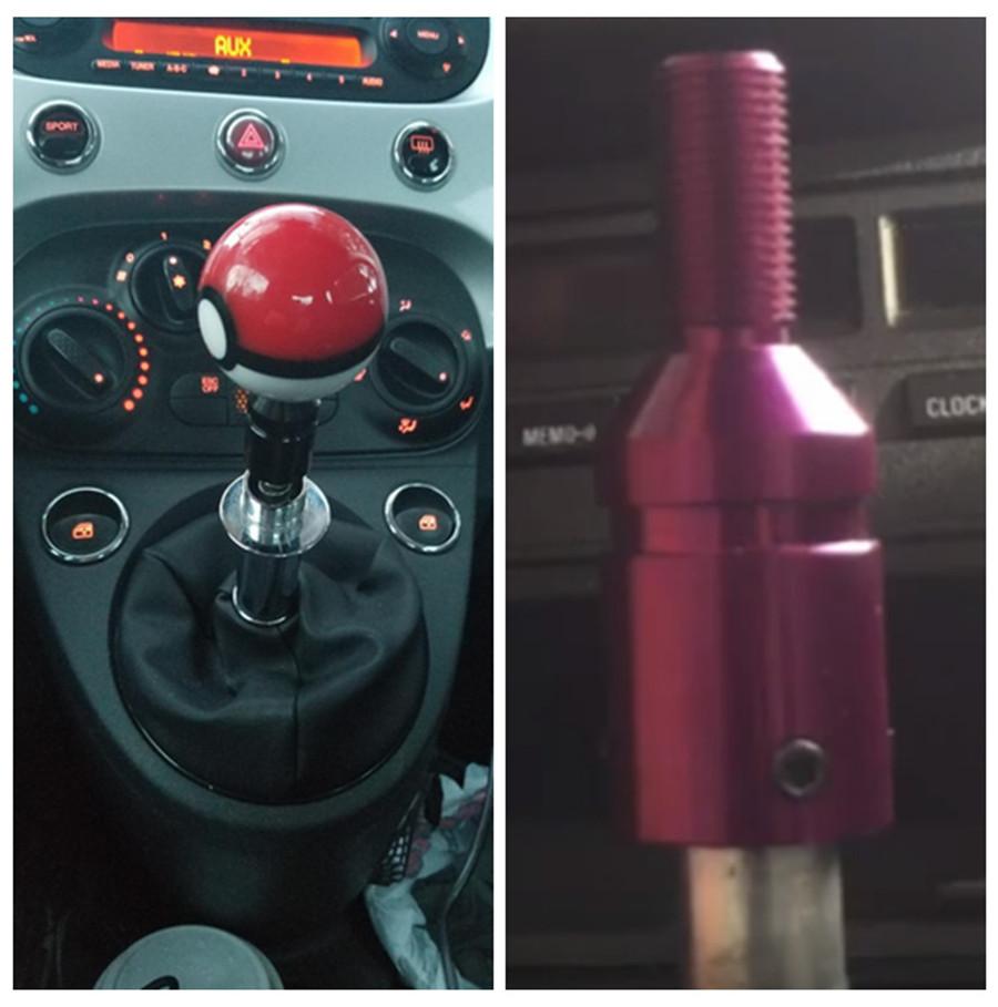 Black Qiilu Manual Gear Shift Knob Aluminum Alloy Car Gear Shift Head Shift Knobs Universal for Manual Transmission Shifter Car