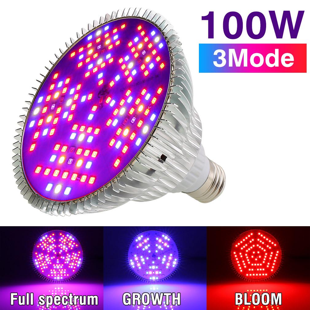 20//30//50//80W LED Grow Light E27 Lamp Bulb for Plant Hydroponic Full Spectrum USA