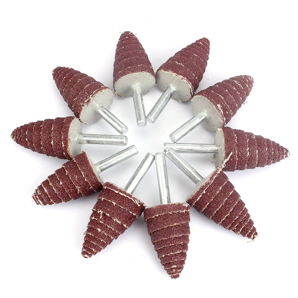 25x6mm Cone Deburring Flap Sanding Disc Grinding Head Wheel Rotary Tool 80#