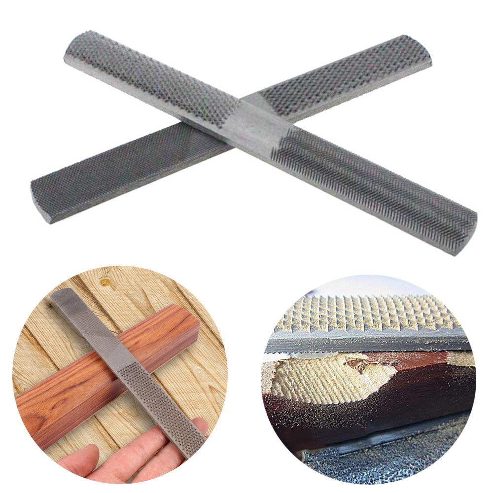 Details about Double Sided Wood Rasp File 200mm Carving Stick Carpentry  Woodworking Tool 4 Way