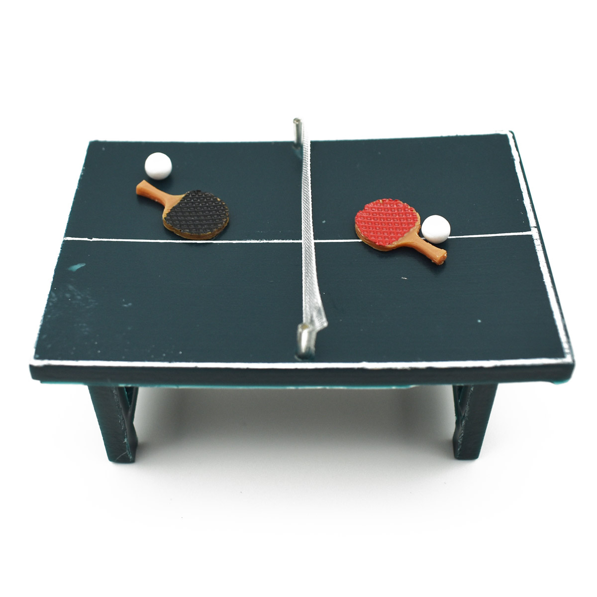 5e33a6f40 75 50mm Mini Ping-pong Table   Table Tennis Bats Dollhouse Furniture ...