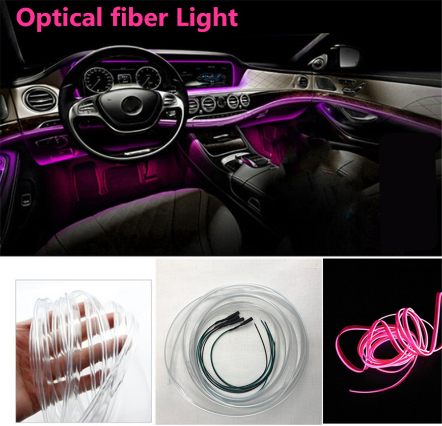 Floor lamp with 8M Fiber 64-Color Wireless LED Threadless Application Control,Decorative Center Console car Door Floor Automotive Ambient Light RGB 6 + 4+4 Door Handle