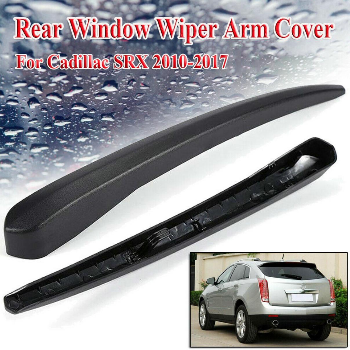 Car Rear Windshield Window Wiper Arm Cover Trim For Cadillac SRX 2010-2017 Black