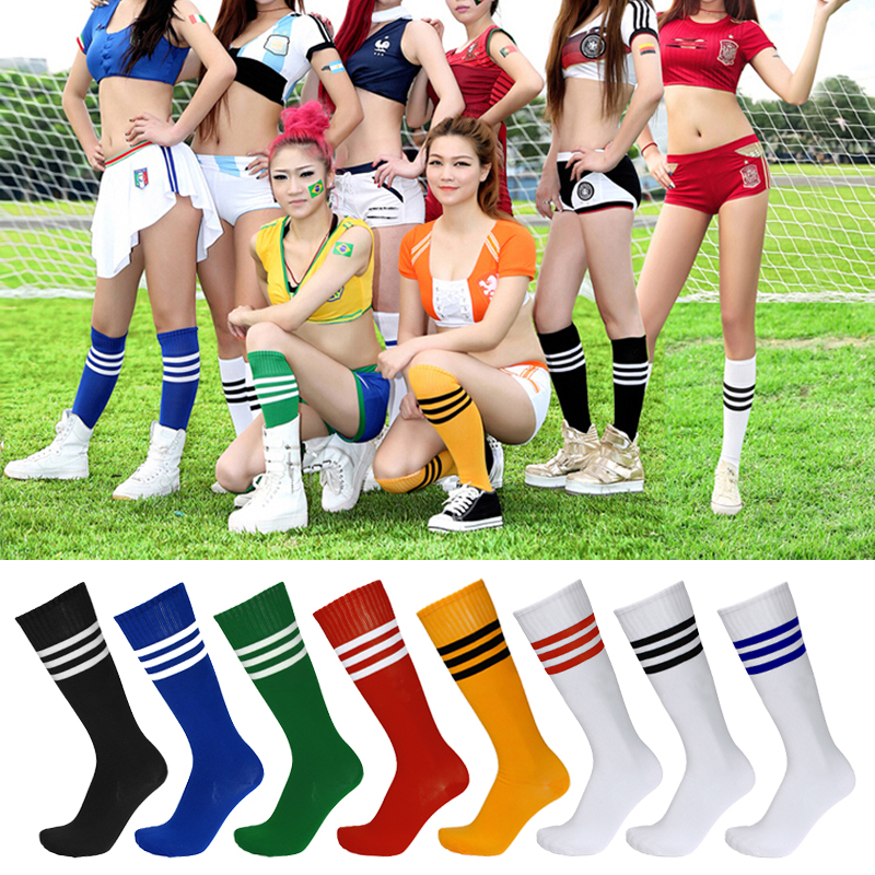 Children/'s Sport Football Soccer Baseball Stripe Knee High Long Socks  yellow