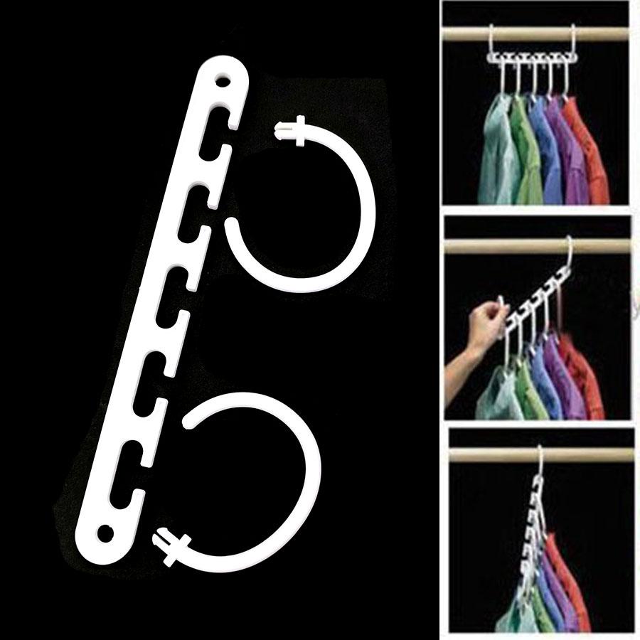 SKYTE/® 10 Pcs Magic Space Hangers Closet Space Saving Multifunction Wardrobe Clothing Hanger Oragnizer