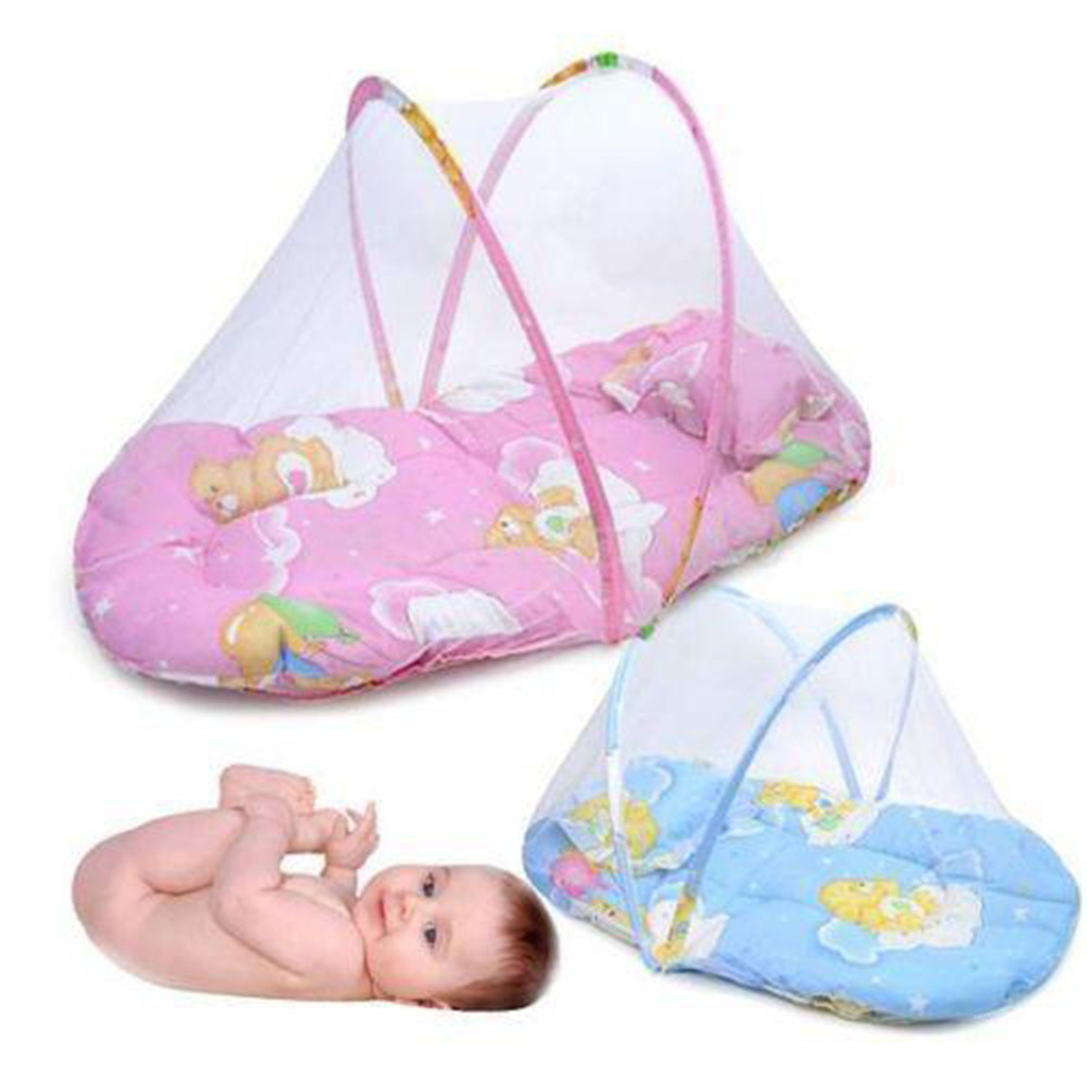 Portable Baby sleep Bed Crib Folding Mosquito Net Infant Cushion ... for Folding Mosquito Net For Baby  300lyp