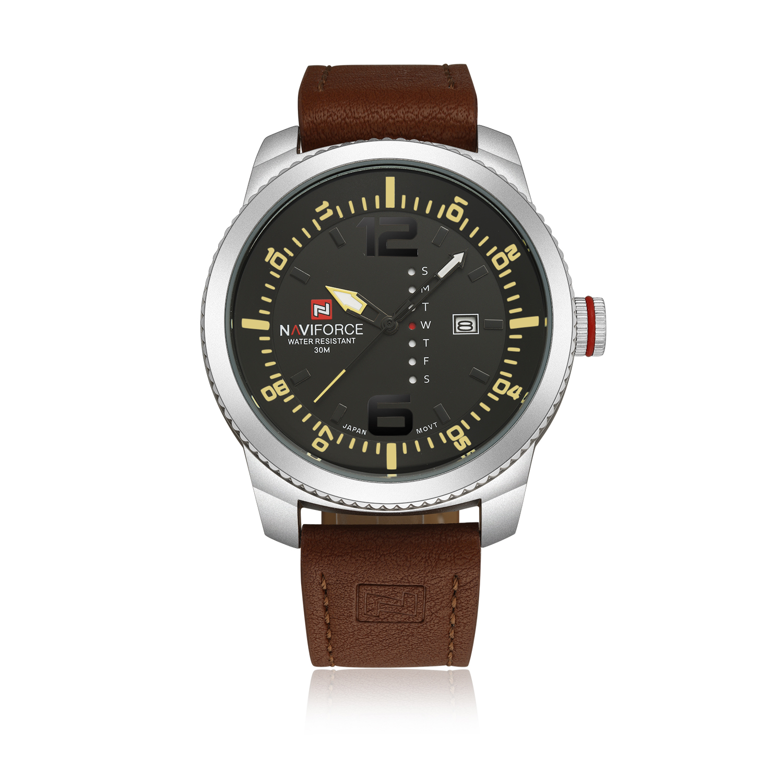 naviforce men casual sport analog quartz pu leather date wrist naviforce men casual sport analog quartz pu leather date wrist watch waterproof