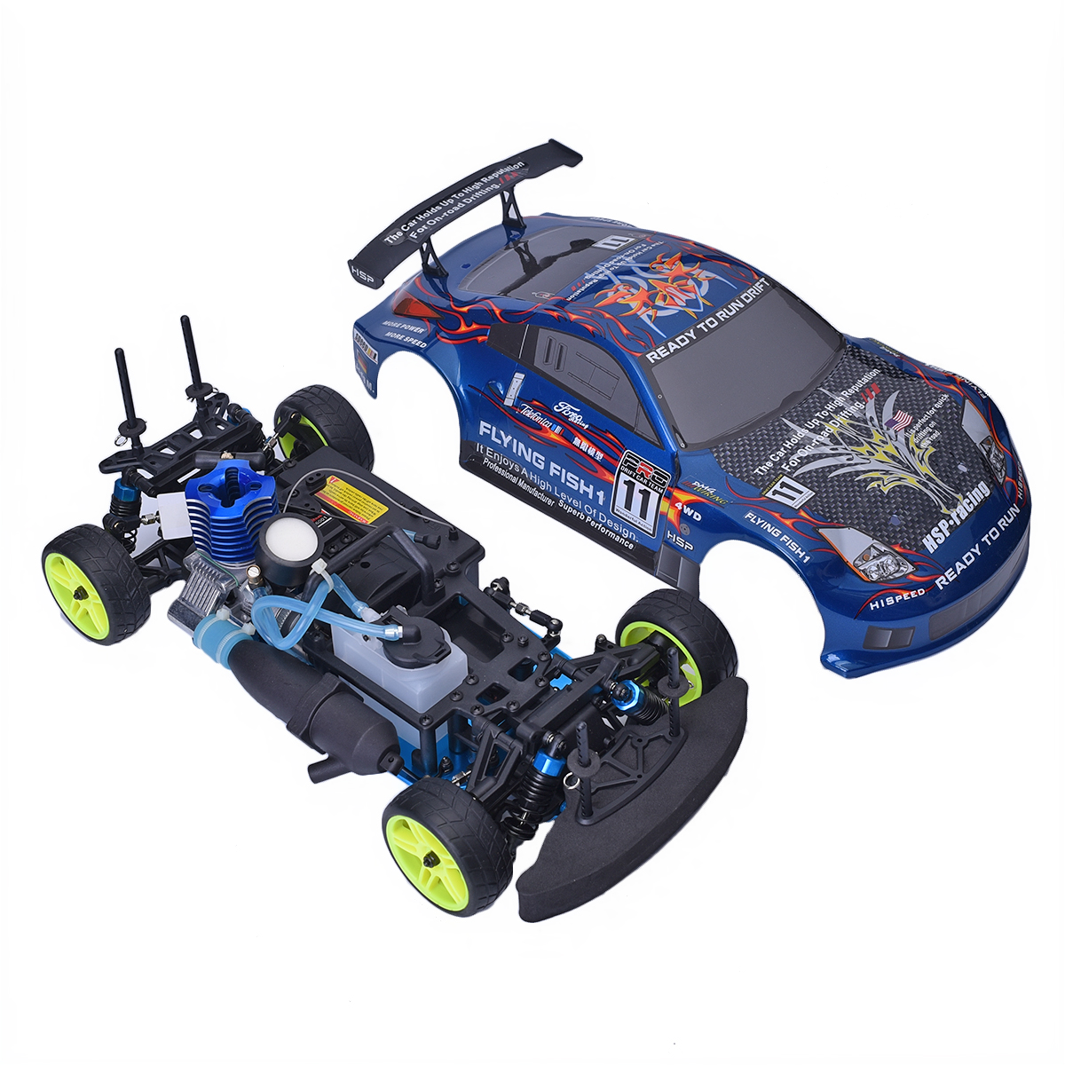 hsp drift radio rc car 1 10 scale model 4wd gas power. Black Bedroom Furniture Sets. Home Design Ideas
