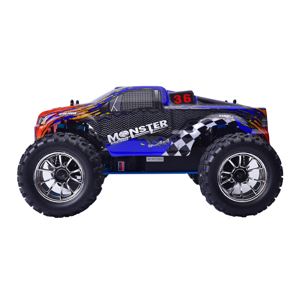 Hsp Rc Car 1 10 Scale Nitro Gas Power 4wd Off Road Truck: HSP 94188 1/10 Scale RC Car Off Road 2.4G 4WD Monster