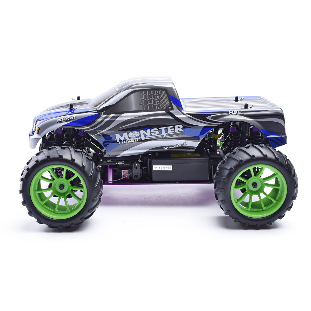 Hsp Rc Truck Nitro Gas Power Off Road Monster Truck 94188: HSP Rc Car 1/10 2.4Ghz Nitro Power 4wd Off Road Monster