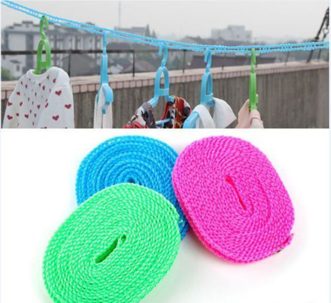 5M Portable Outdoor Travel Business Clothesline Washing Clothes Line Rope
