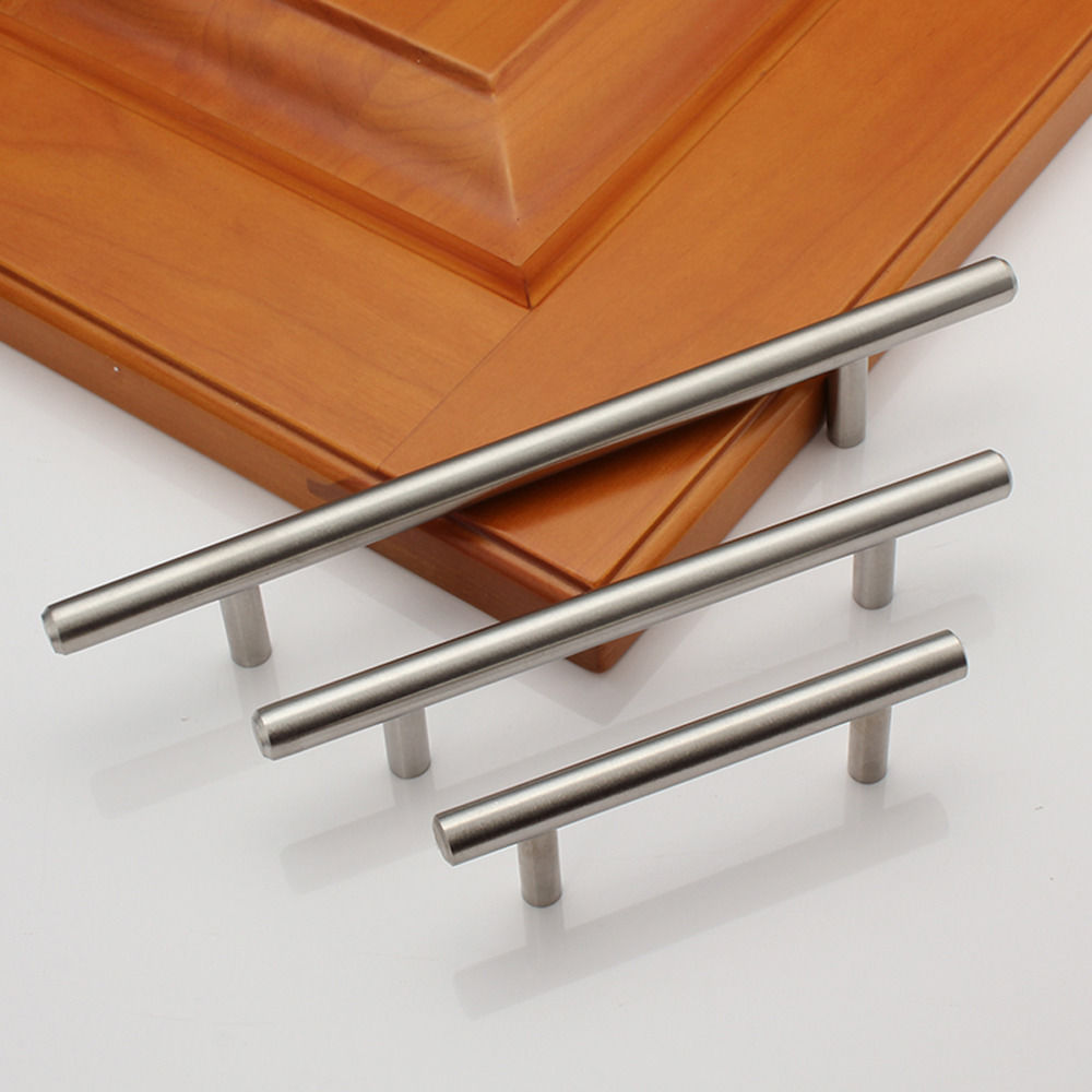 "Stainless Steel Kitchen Cabinet Hinges: 2-18"" Solid Stainless Steel Kitchen Cabinet Handles Pulls"