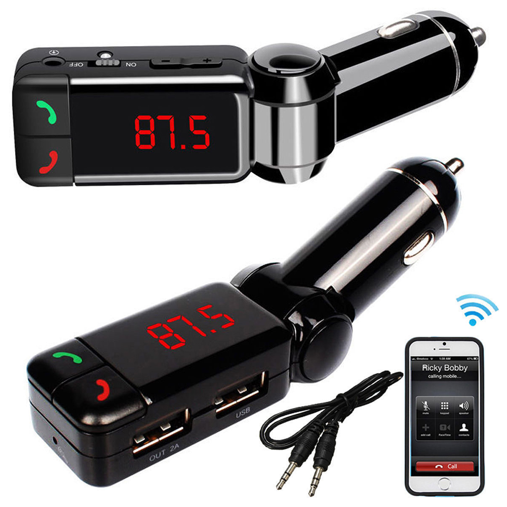 Wireless Bluetooth Car Kit FM Transmitter Dual USB Charger MP3 Player Handsfree