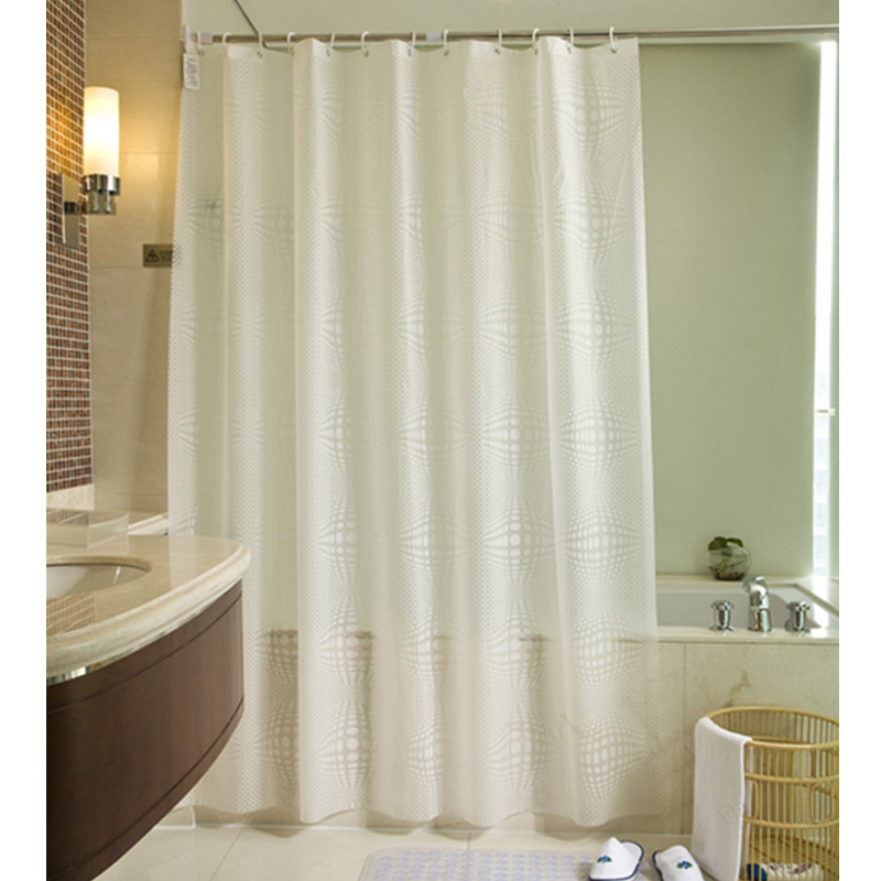 fabric shower curtain plain white extra wide extra long