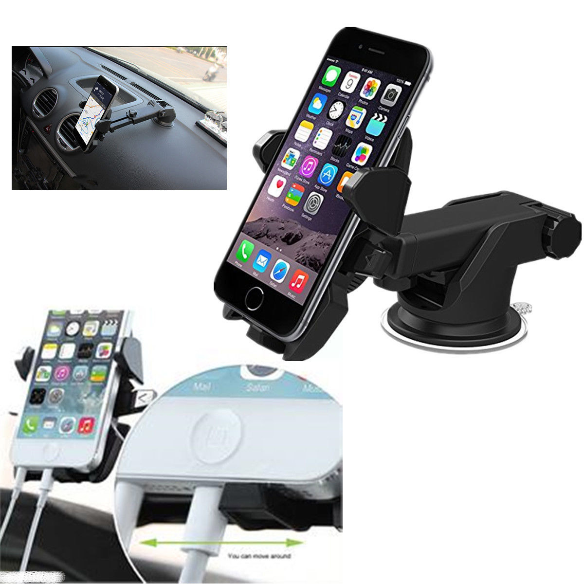 Android Phone Holder : universal car 360 windshield mount holder stand for iphone android phone gps ~ Russianpoet.info Haus und Dekorationen