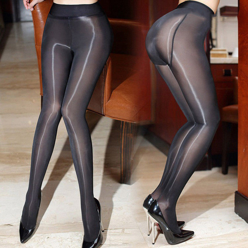 fab469b4ae2 Women s Shiny Sheer Tights Pantyhose Crotch Crotchless Smoothly Body  Stockings
