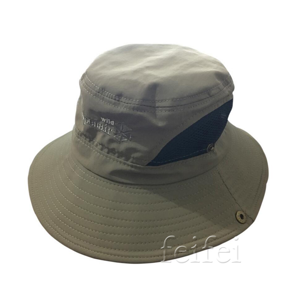 Outdoor wide brim hiking camping fishing caps sun for Wide brim fishing hat