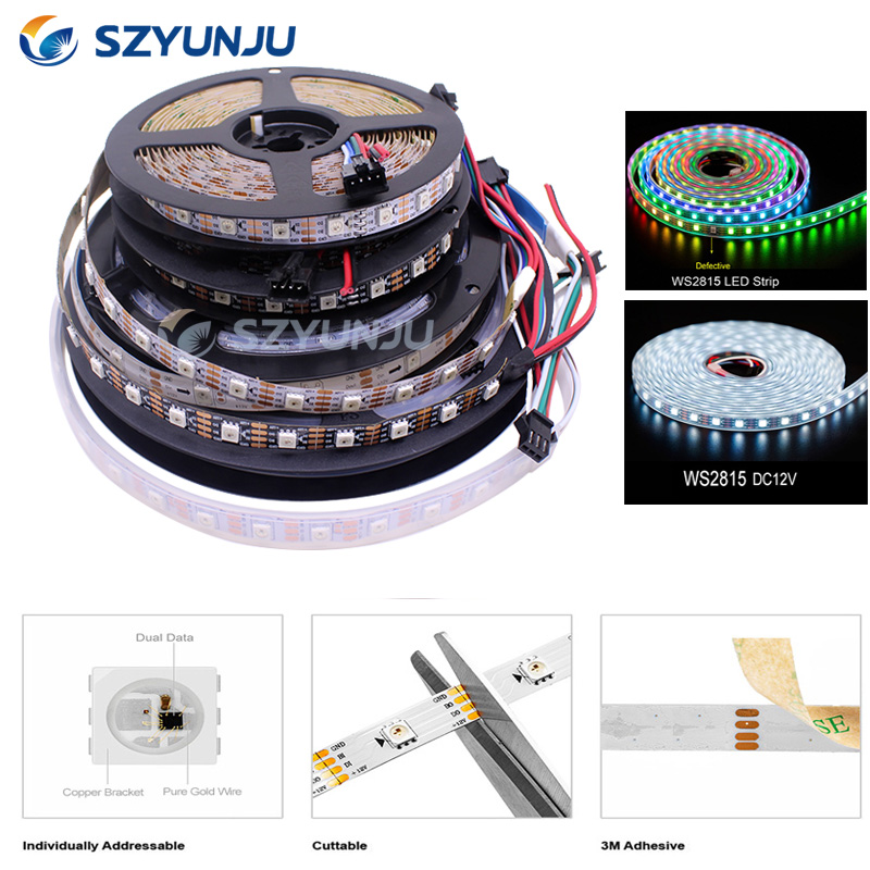 WS2815 DC12V RGB Pixels LED Strip Light Dual Signal