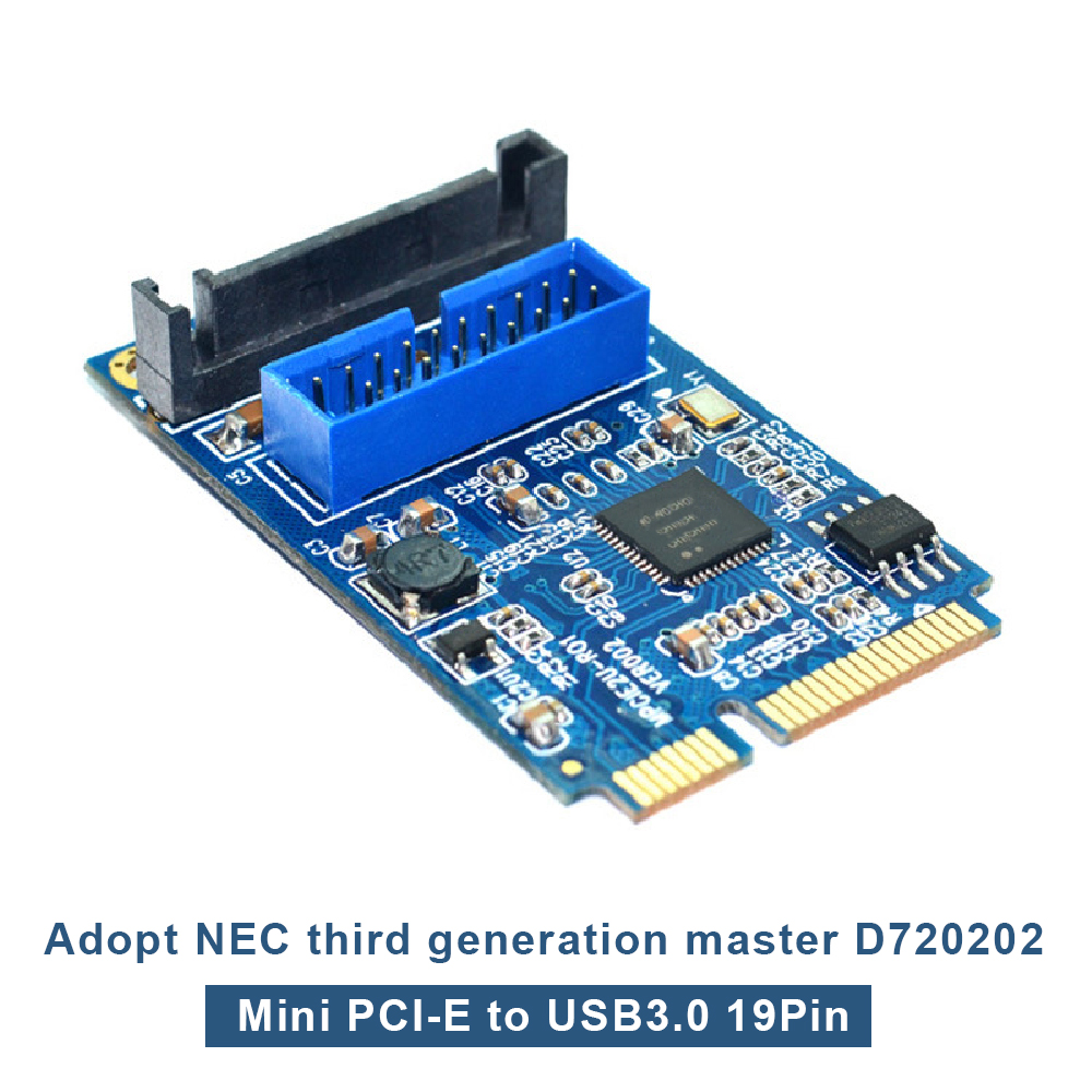 Details about MINI PCI-E to USB 3 0 Front 19 Pin Computer Extension Card 2  Port Expansion Card