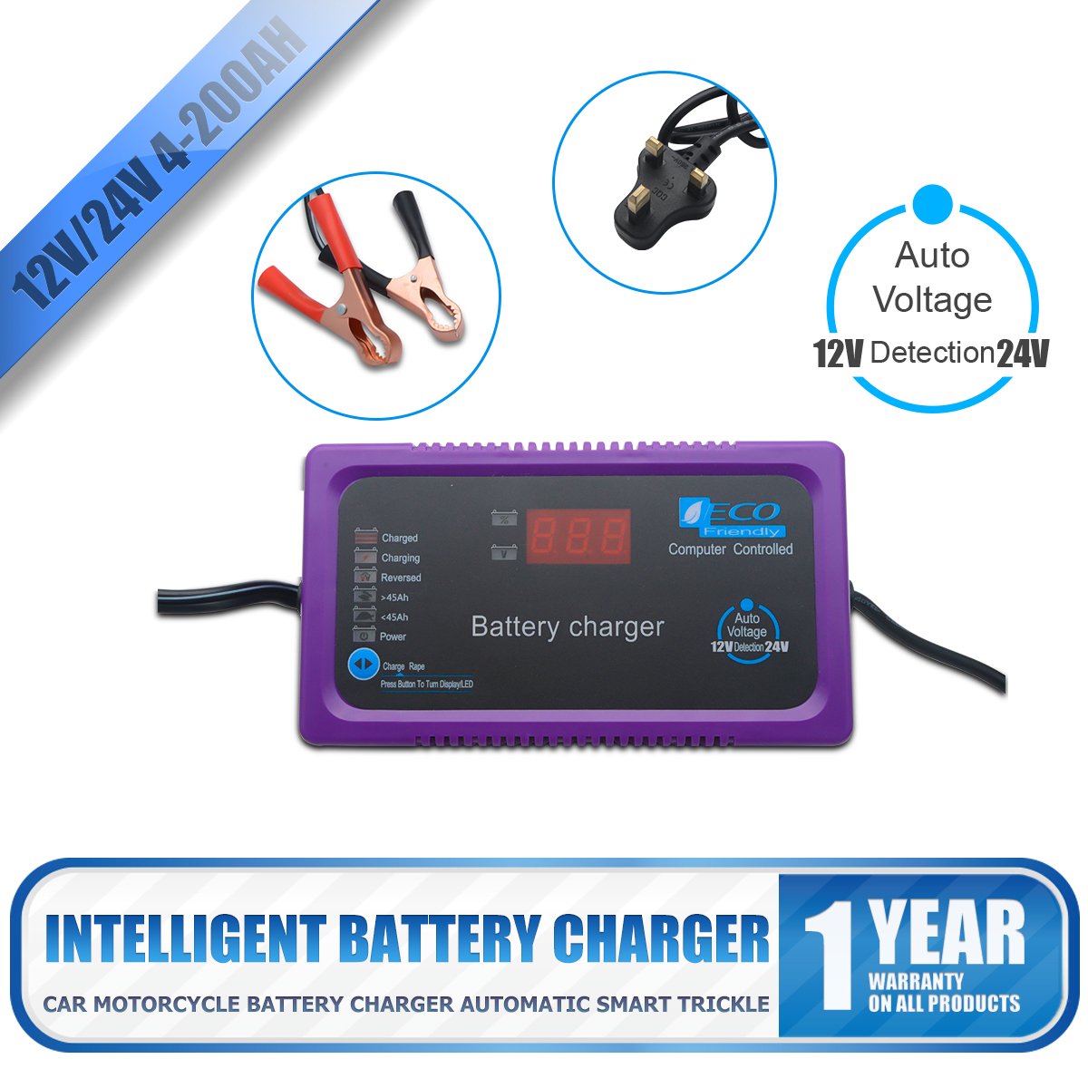 12v 24v 200ah Electric Car Drywet Battery Charger Intelligent Pulse Overvoltage Protection Ic Repair Auto 607111238218 Ebay