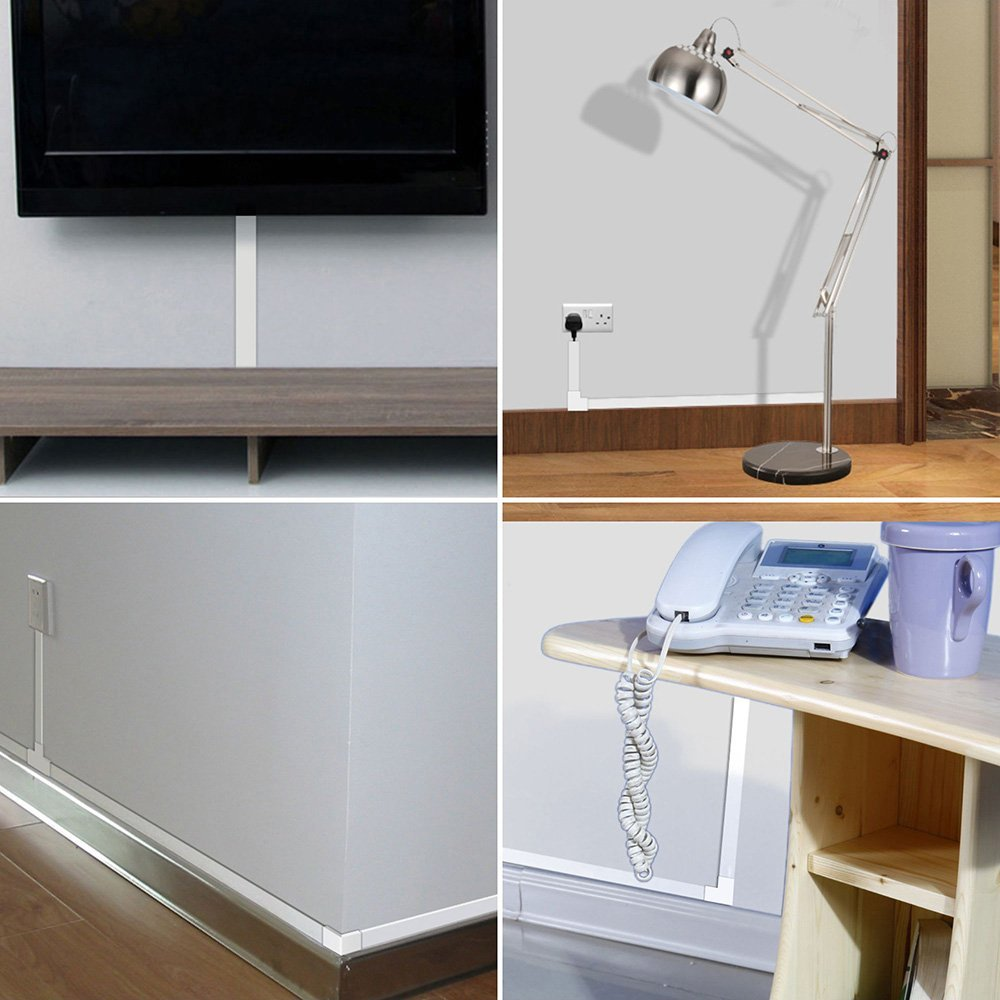 Cable Concealer Wall Cord Cover Complete Raceway Kit Hide Wire How To Wiring Behind Baseboard Or Installing A Page 2 Of No Dust Accumulated In Mass Wires Do Housework More Easily