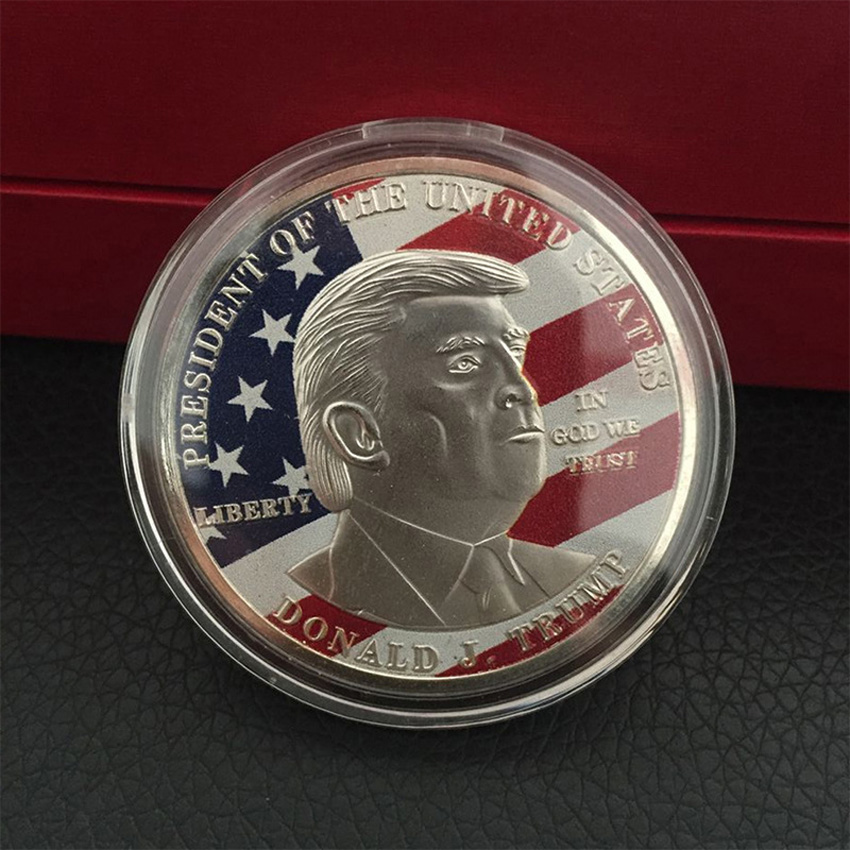 10X President Donald Trump Inaugural Sliver Plated Commemorative Novelty Coin LN